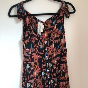 Free People Button Up Tank Dress